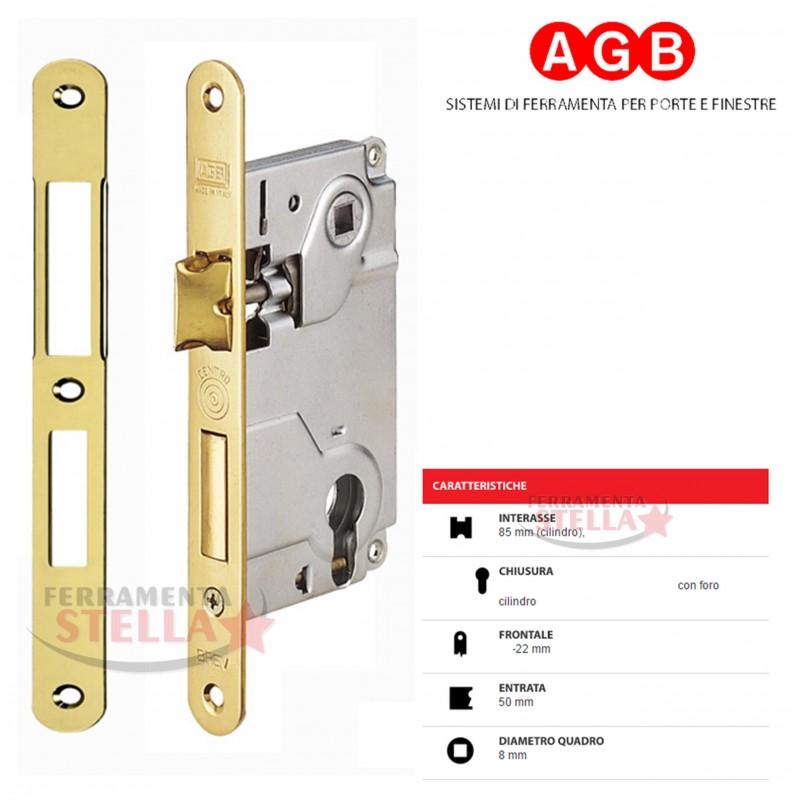 Serratura Patent Per Porte Interne Bussole Tipo Centro Agb Dist 90